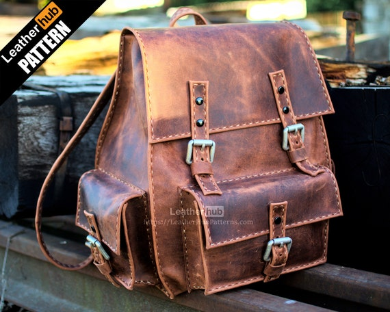 Tarnished backpack leather pattern PDF - by Leatherhub