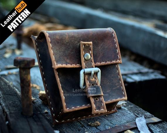 Hip bag leather pattern PDF - by Leatherhub