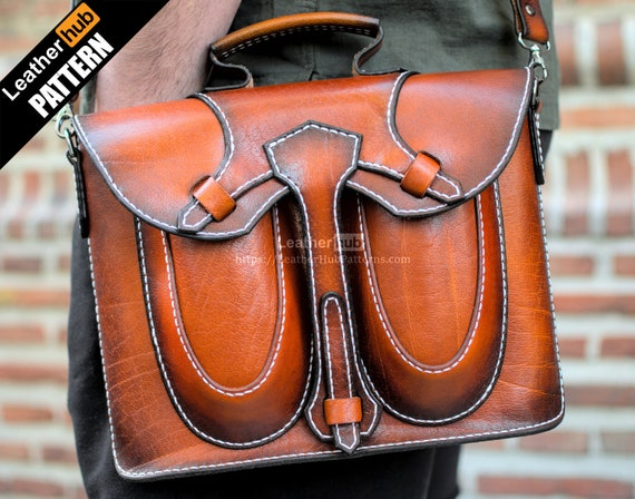 Leather Macbook sleeve pattern PDF - by Leatherhub