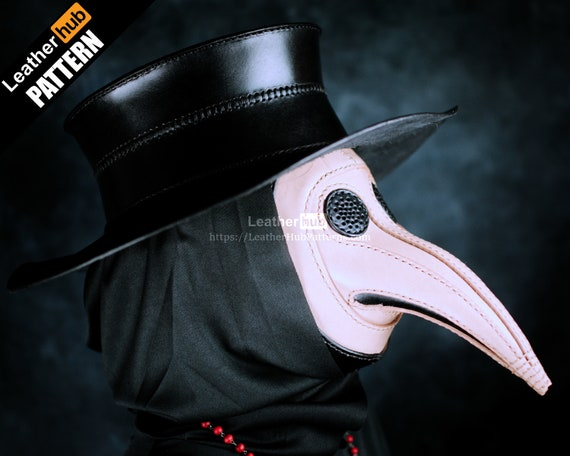 Mask and hat leather pattern PDF - Plague doctor - by Leatherhub