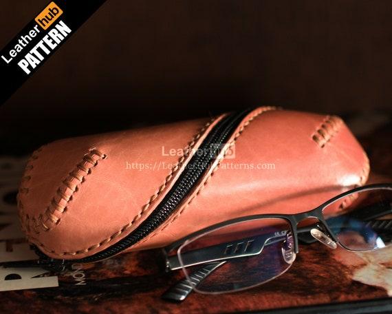 Eyelgasses cases leather patterns PDF - by Leatherhub
