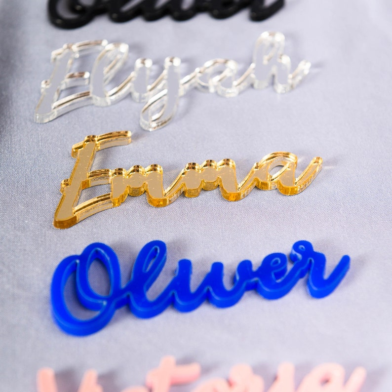 Wedding place cards Silver or Gold Acrylic name cards Silver mirror place cards Acrylic laser cut place cards name cards wedding acryl table