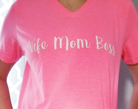 Wife Mom Boss Tee,  women's clothing, wife shirt, mom shirt, shirt for mom, boss shirt, wife, mom, boss shirt,  wife tee, mom tee, boss tee