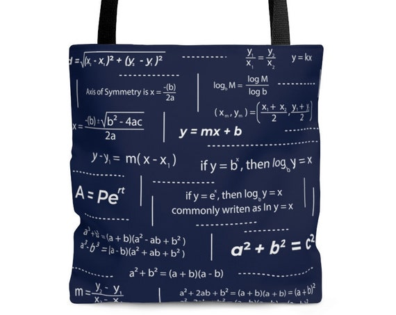 Math Teacher Tote Bag, Teacher tote bag, math teacher gift, teacher gift, high school teacher, tote bag for math teacher