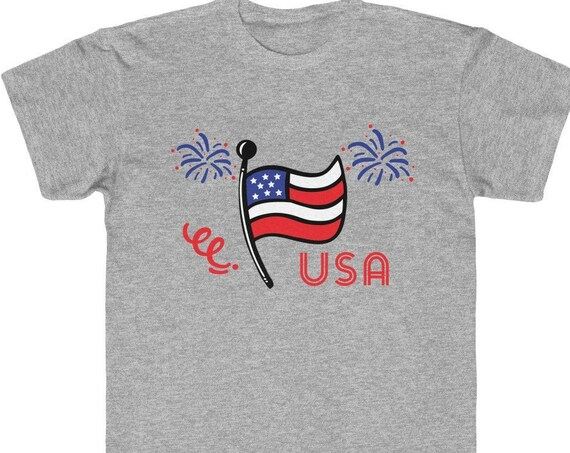 Kids tshirt for 4th of July, 4th of July kids tee, kids tshirt, USA kids tshirt, USA Kids Tee, kids shirt, 4th of July tee, unisex kids tee
