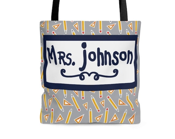 Teacher Tote Bag, Teacher Bag, Gift for Teacher, Teacher Appreciation, Custom Teacher Gift, Personalized Teacher Gift