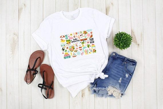 Summer tshirt, adult unisex fit, graphic tees, printed tshirts, summer vibes vacation shirt, beach vacay