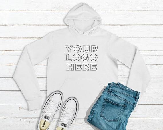 Bella Canvas Unisex Fleece Pullover Hoodie, Your Logo Here Hoodie, Business Logo Sweatshirt, Personalized Hoodie