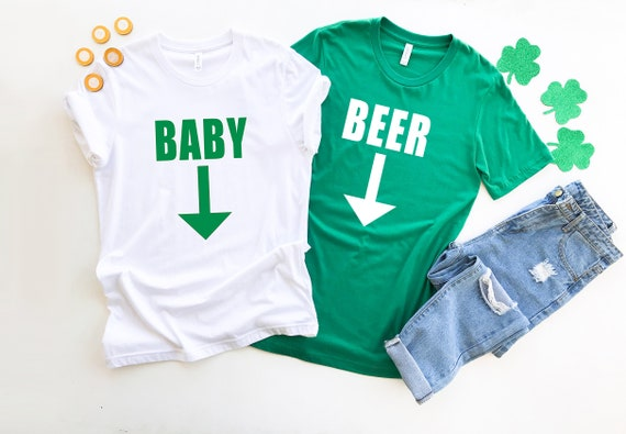 Expecting tshirt for dad St Patricks Day tshirt, beer belly tshirt, couples tshirt, pregnancy announcement