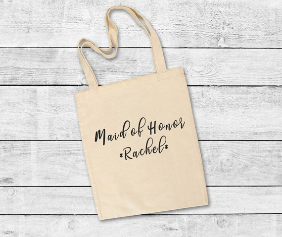 Maid of Honor Tote Bag, bridesmaid gift, wedding, bridal party, bridesmaids, gifts, tote bags for bridesmaids, wedding, wedding gift
