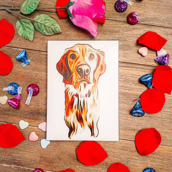 Digital art print of your pet, custom art, gift for dog lover, gift for cat lover, personalized wall canvas art, digital download