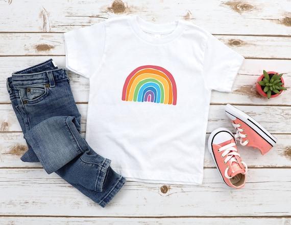 Rainbow baby, kid tshirt, boys rainbow shirt, child tshirt rainbow clothing, kid be kind shirt, choose happy, rainbow tshirt for kids