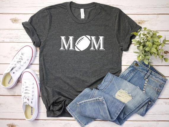 Football Mom tshirt, sports tshirts mom shirt for football, game day bella canvas apparel athletic clothing