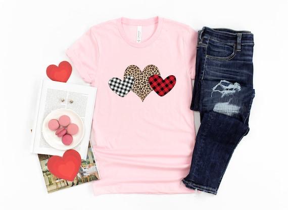 Valentine's Day tshirt, women's tshirt Valentine leopard plaid love shirt Valentines shirt, love tshirt, womens tshirt, valentines day shirt