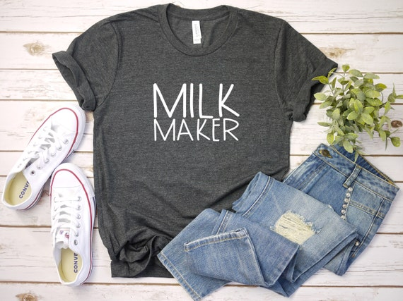 Milk Maker, breastfeeding, mom tshirt, shirt for Mom, new mom gift, funny tshirt for mom, mother's day gift, baby announcement idea