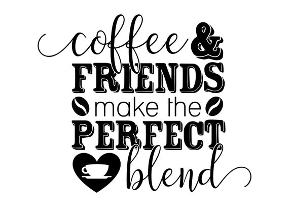 Printable Wall Art, Coffee and Friends printable art, Home decor, gallery wall, home poster, apartment decor
