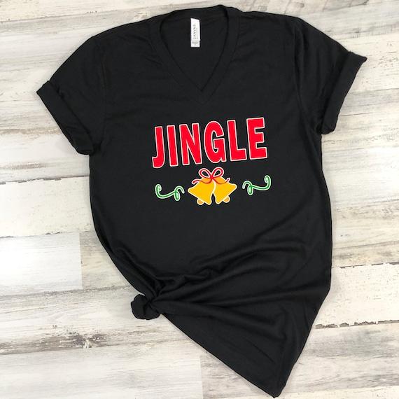 Jingle Bells tshirt, Christmas t-shirt, Christmas shirt, women's Christmas tshirt, women's tshirt, Merry Christmas tshirt