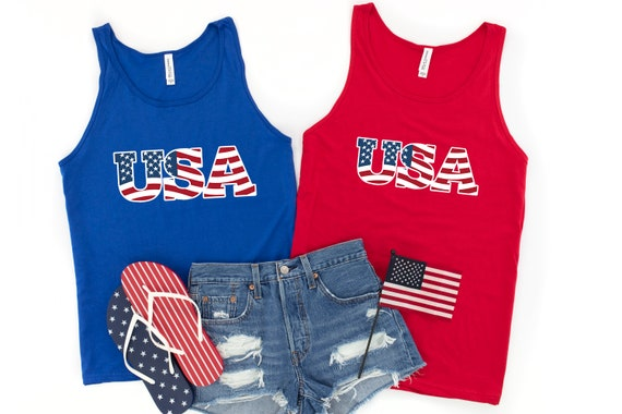 4th of July shirt, USA tank top, America, 4th of July shirt for women, Independence Day tank top, patriotic shirt, women's tank top