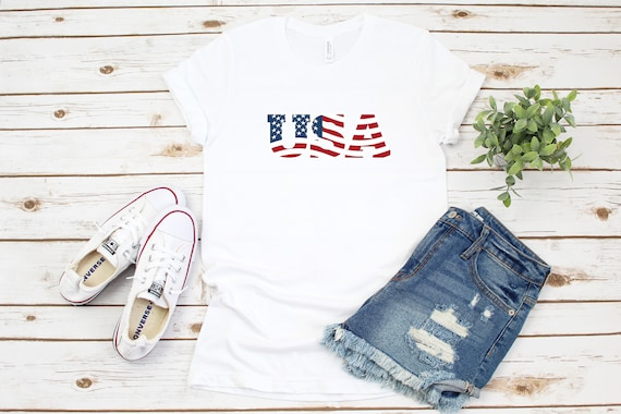 USA t shirt, America printed t shirt for 4th of July, Independence Day clothing, patriotic t shirt, American flag, shirt for 4th of July