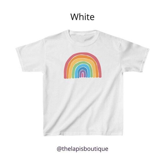 Kids Rainbow t-shirt Rainbow tshirt, Choose Happy children's Clothing unisex t shirt, Good Vibes, Happiness, Be Kind Positive kids tees