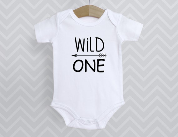 Wild One 1st birthday First birthday shirt, one year old shirt, birthday shirt, first birthday, Infant Snap Tee