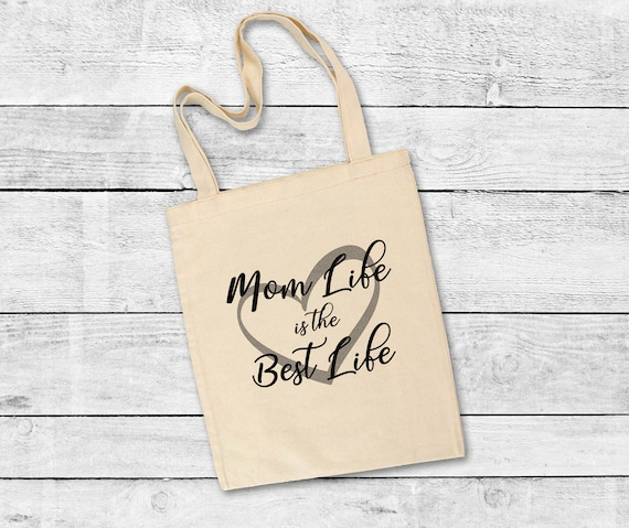 Tote Bag, Mom Life is the Best Life Tote Bag, Gift for her, Mother's Day tote bag, beach bag, tote bag for mom, shopping tote for mom