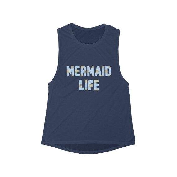Mermaid Life Tank Top, mermaid shirt, cute tank top, summer tank top, gift for her, seashell mermaid tank top