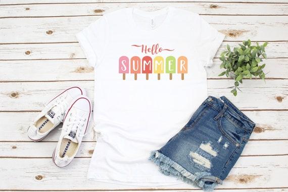 Hello Summer Shirt, Popsicle Shirt, Vacation Shirt, Beach Vacation, Summer Vacation, Vacation Tee, Vacay Mode, Summertime Shirt