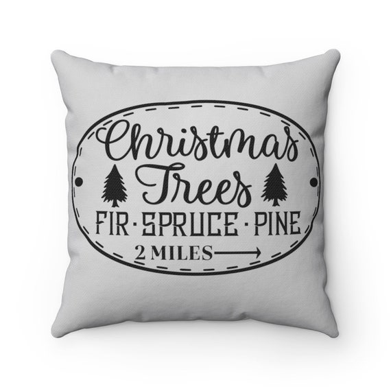 Christmas Pillow Spun Polyester Square Pillow holiday home decor couch Christmas pillows