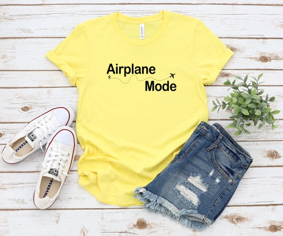 Airplane Mode tshirt, womens tshirt, vacation mode, vacay mode, unisex size t-shirt, beach tshirt, travel outfit