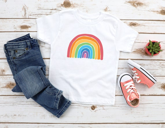Kids Rainbow t-shirt Rainbow tshirt, Choose Happy children's Clothing unisex t shirt, Good Vibes, Happiness, Be Kind Positive kids tees