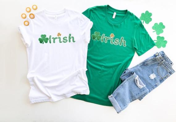 Irish tshirt St Patrick's Day, Lucky tshirt, four leaf clover womens tshirt, cute St Patricks Day shirt, womens tshirt, irish shirt
