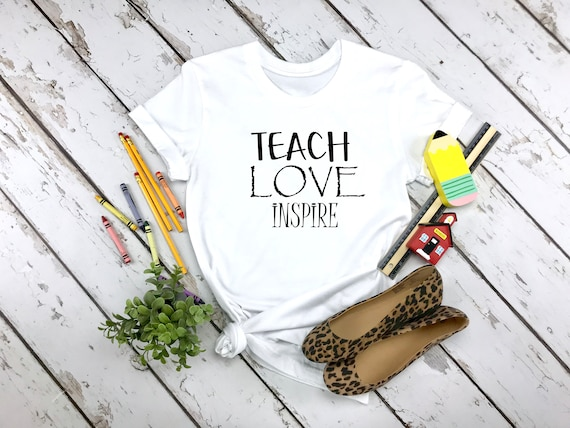 Teach Love Inspire, Teacher tshirt, teacher shirt, Teacher gifts, teacher gift, gift for teacher, Teacher Appreciation, Back to School