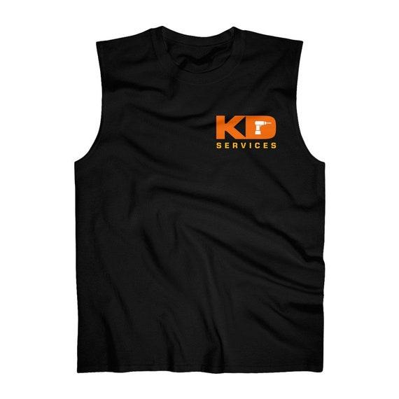 Custom Order KD Services Handyman business logo Gildan sleeveless shirt