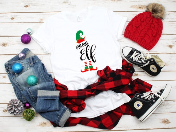 Mama Elf Christmas t-shirt