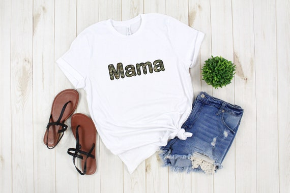 Mama Camouflage tshirt, women's tshirt, cute tshirt for Mom, camo t-shirt, adult unisex shirt