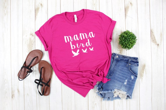 Tshirt for Mom, Pregnancy Tee, new mama tshirt, Mommy Shirts, mothers day gift, gift for mom, Mama Bird t-shirt