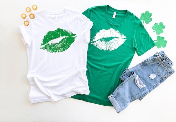 St Patricks Day tshirt, cute womens shirt Shamrock tshirt Four Leaf Clover, Lucky tshirt, Womens tshirt, St Patricks Day