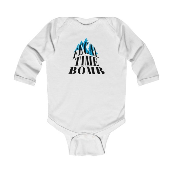 Fecal Time Bomb Infant Long Sleeve Bodysuit, baby gift new gift for baby, baby announcement, baby shower
