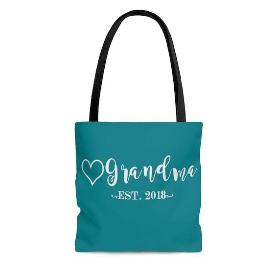 Est Date Tote Bag for Grandma Mimi tote bag Nana tote bag, tote bag for new Grandma, tote bag for new Mimi, tote bag for new Nana