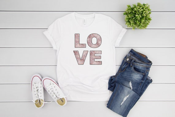 Love tshirt for women valentines tee for woman, valentines day shirts for women rose gold leopard print