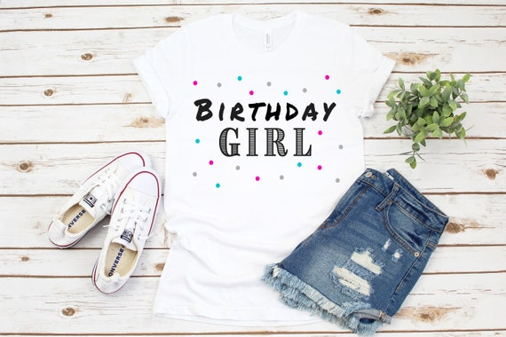 Birthday tshirt bday tee birthday gift party shirt gift for her cute tees