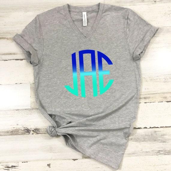 Monogram tshirt, monogram shirt, monogram tee, monogram tshirt, cute tshirt, cute monogram, women's clothing, womens tee
