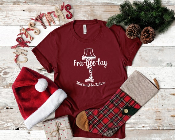 Christmas movie inspired tshirt for Christmas holiday season Funny Christmas Story shirt Frageelay tee shirt