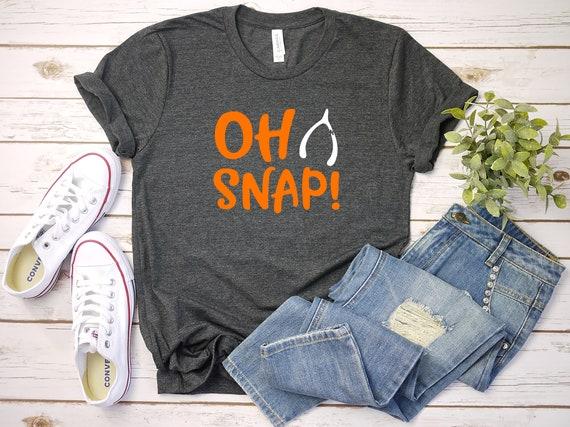 Oh Snap Thanksgiving tshirt, womens tshirt, fall tshirt, thanksgiving tshirt, shirt for her, womens tee, fall thanksgiving shirt