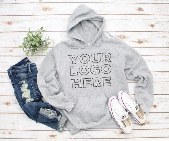 Gildan Unisex Heavy Blend Hooded Sweatshirt, Your Logo Here sweatshirt, Business logo sweatshirt