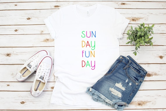 Sunday Funday tshirt, weekend tshirt, women's graphic tees, printed t shirt, Sunday Funday gift for her