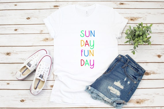 Tshirt for women Sunday Funday weekend tee shirt, womens graphic tees printed shirt brunch tshirt gift for her