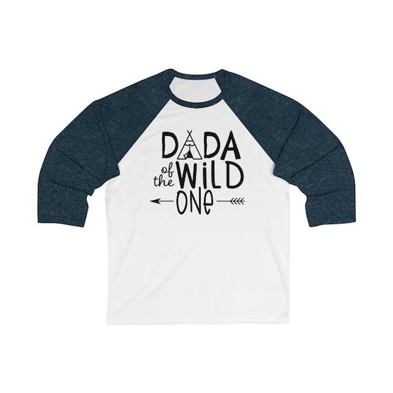 Dada of the Wild One, Shirt for Daddy, Dada baseball raglan Unisex 3/4 sleeve Raglan Tee, Wild One birthday party first year baby birthday
