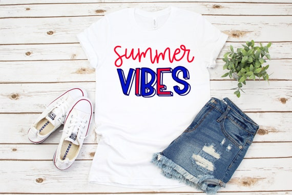 Summer Vibes T-Shirt, Summer vibes, summer tee, summer vibes tee, summer shirt, summer t-shirt, 4th of july shirt, summer vibes shirt